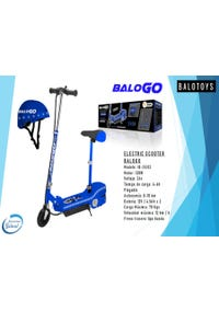 SCOOTER ELECTRICO C/CASCO Y LUCES AZUL