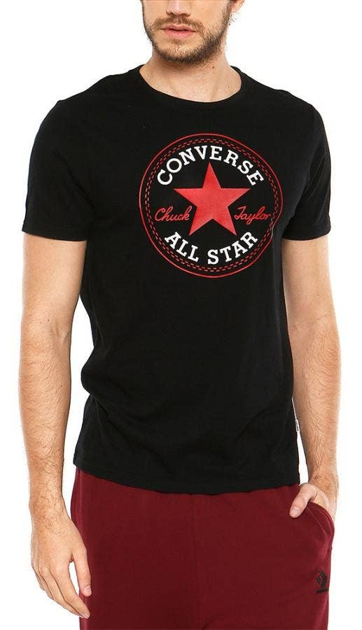 POLERA CHUCK PATCH NEGRA