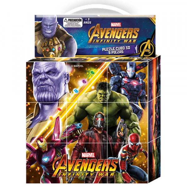 Puzzle 9 Cubos 3D Infinity War