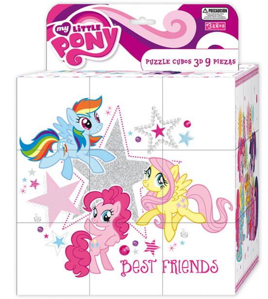 Puzzle 9 Cubos 3D My Little Pony