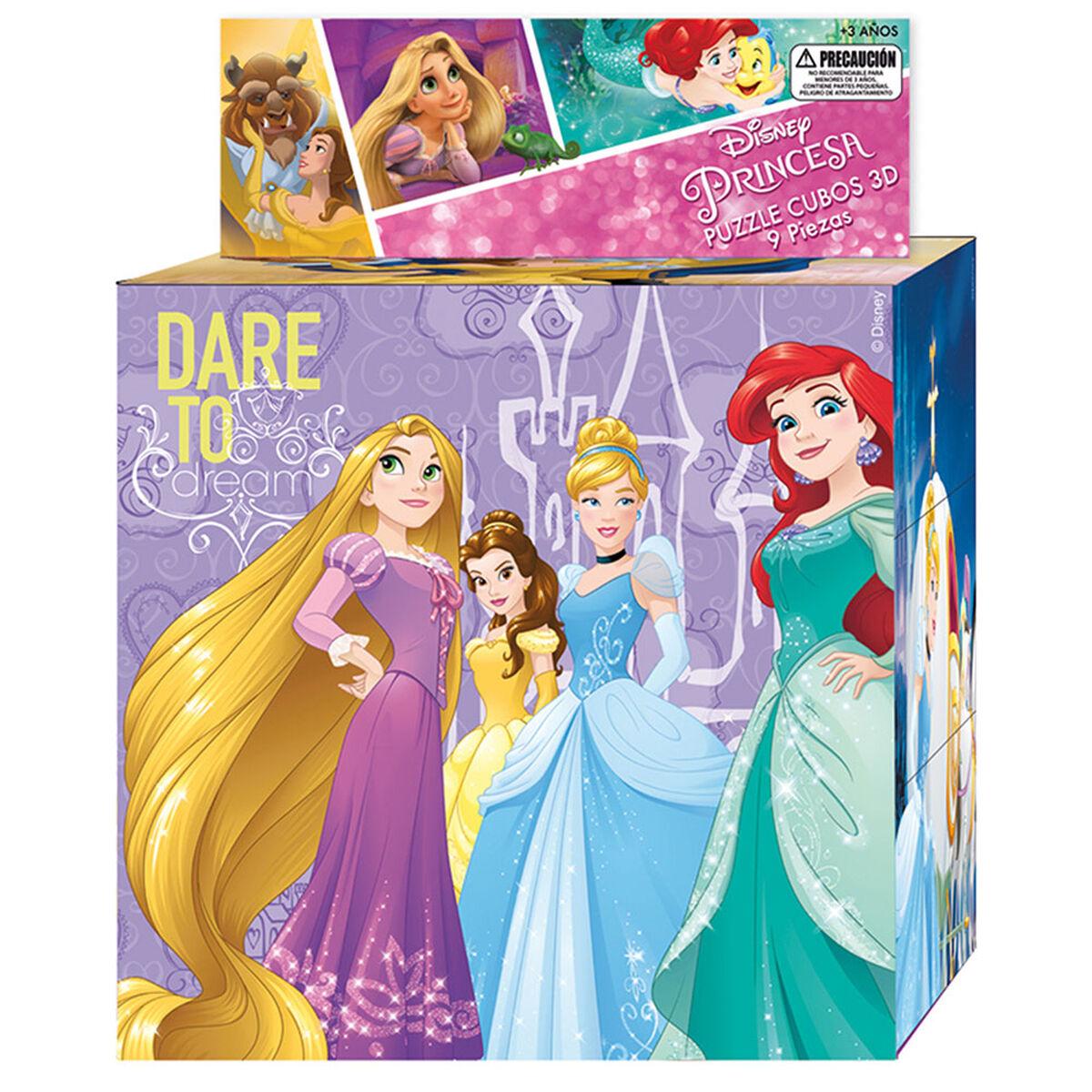 Puzzle 9 Cubos 3D Princesas