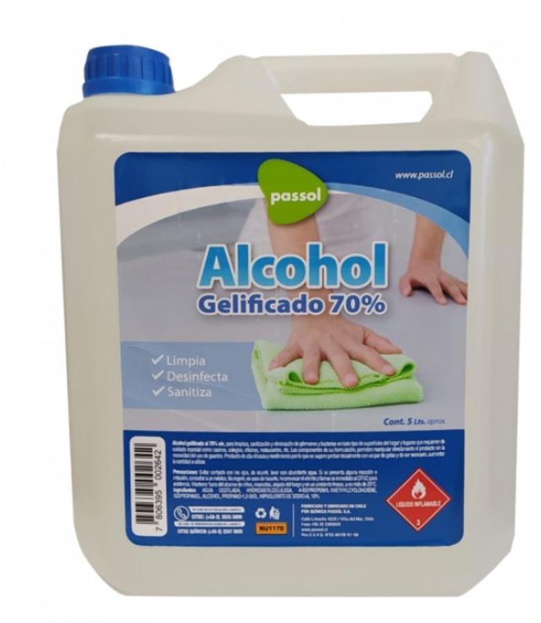 ALCOHOL GELIFICADO 5 LITROS PARA SUPERFICIE