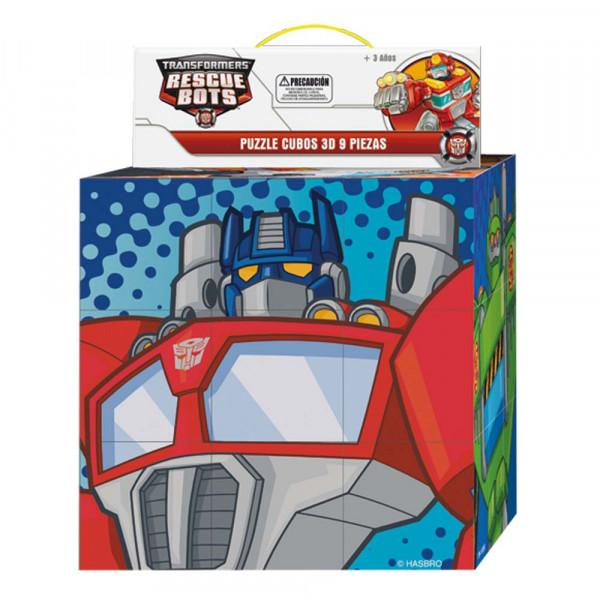 Puzzle 9 Cubos 3D Rescue Bots