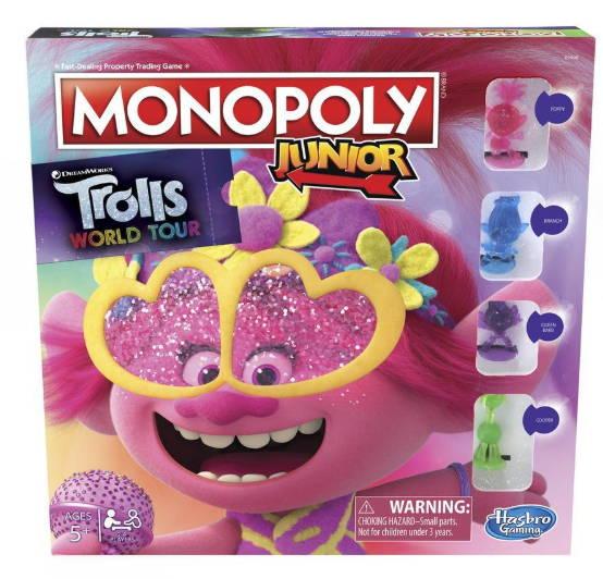 Monopoly Jr Trolls 2 Gira Mundial
