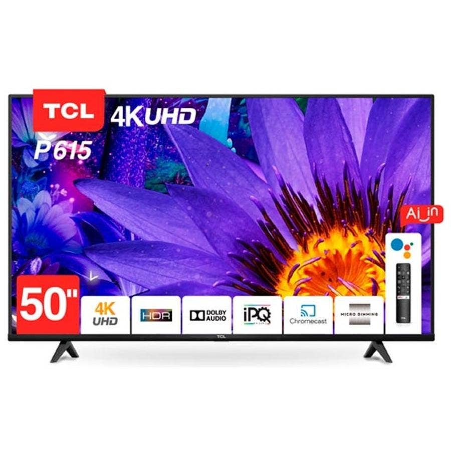 TV LED 50¨ TCL UHD 4K ANDROID TV 50P615