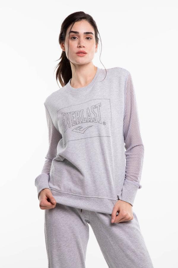 POLERON MUJER EVERLAST GO BOXING TWO GRIS