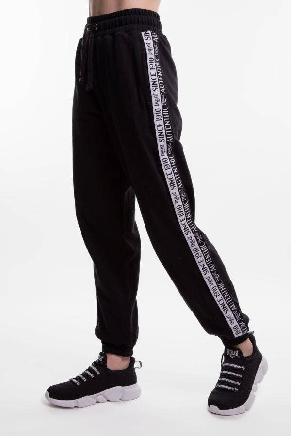 JOGGER MUJER EVERLAST PATCH NEGRO