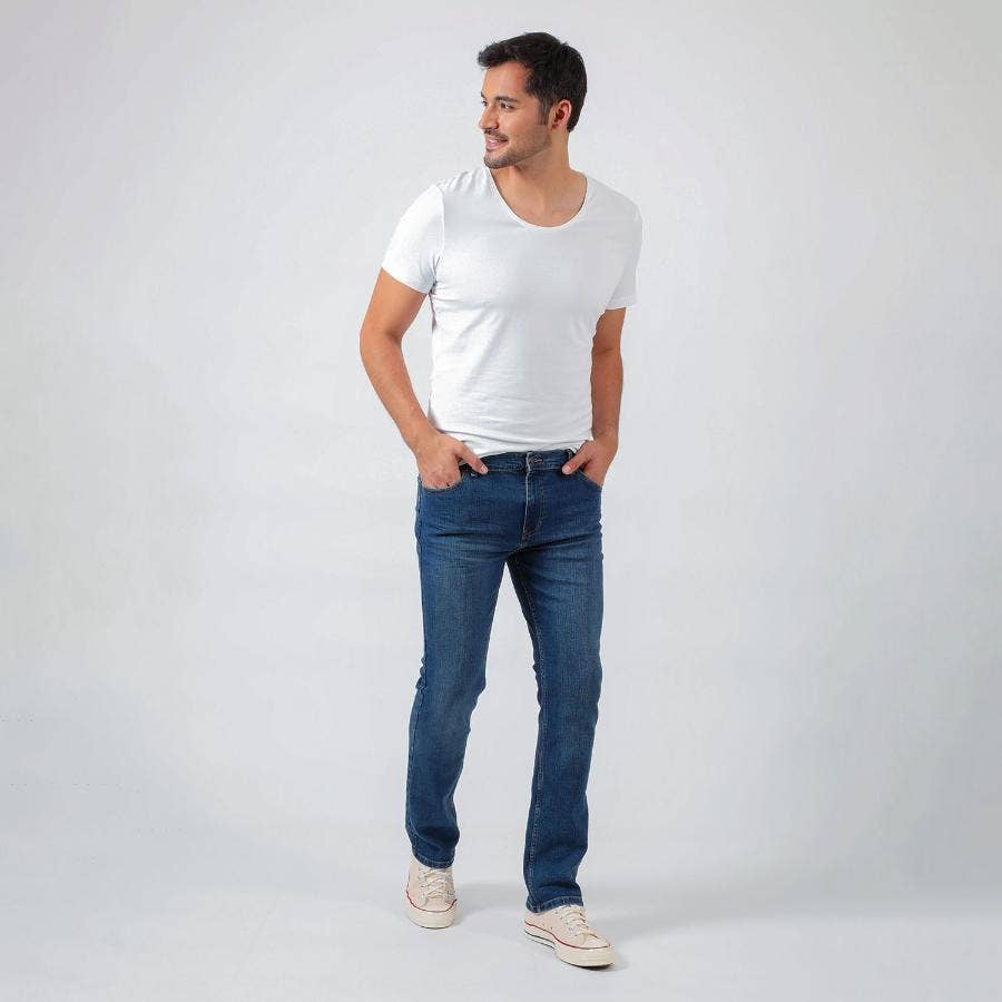 JEANS HOMBRE RIDERS 107  REGULAR FIT BASIC - STONE AZUL