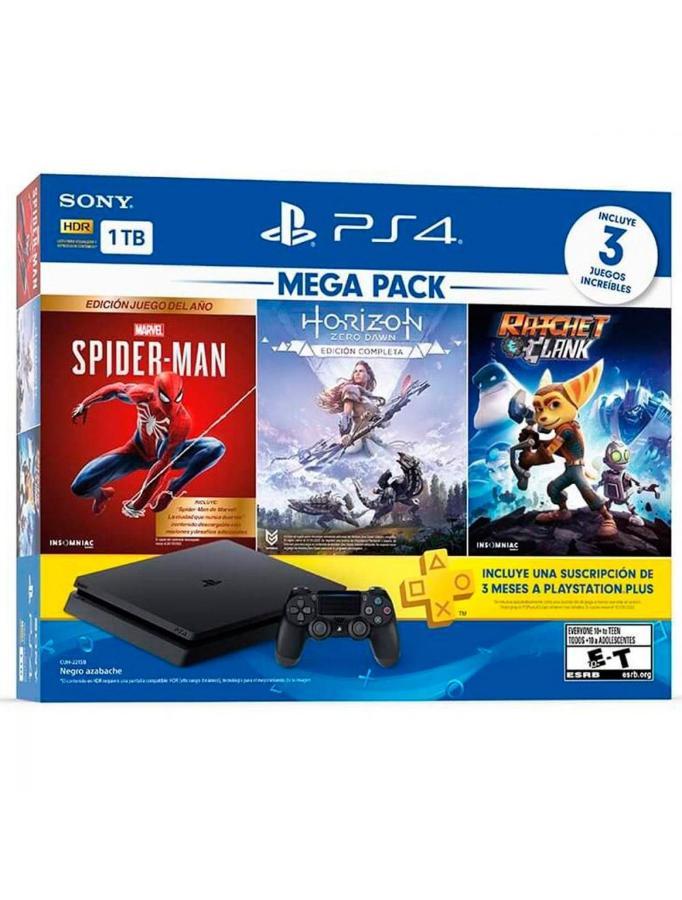 PS4 HW 1TB + MEGA PACK 15