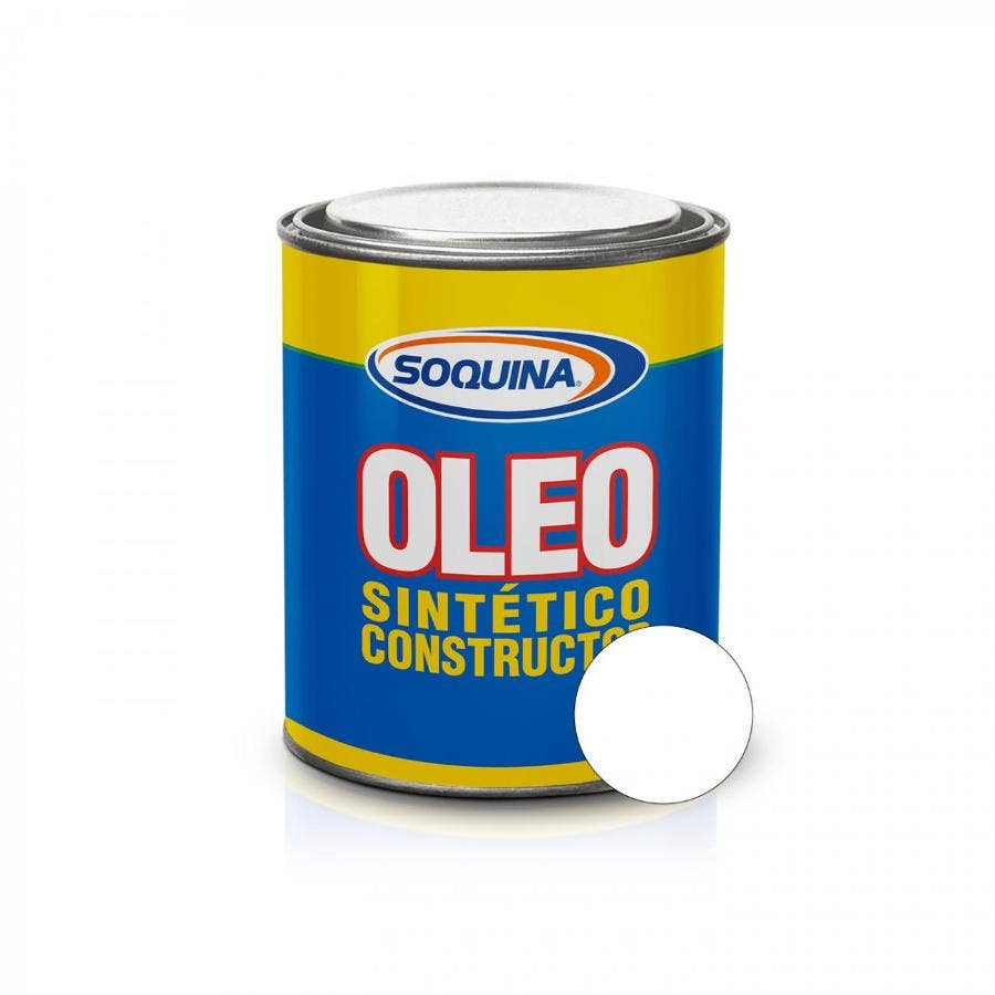 ÓLEO SINTÉTICO CONSTRUCTOR BLANCO 1/4 GL