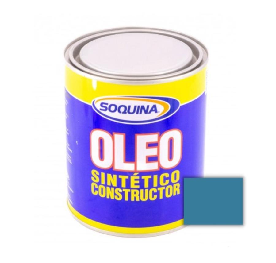 ÓLEO SINTÉTICO CONSTRUCTOR AZUL MEDIANO 1/4 GL