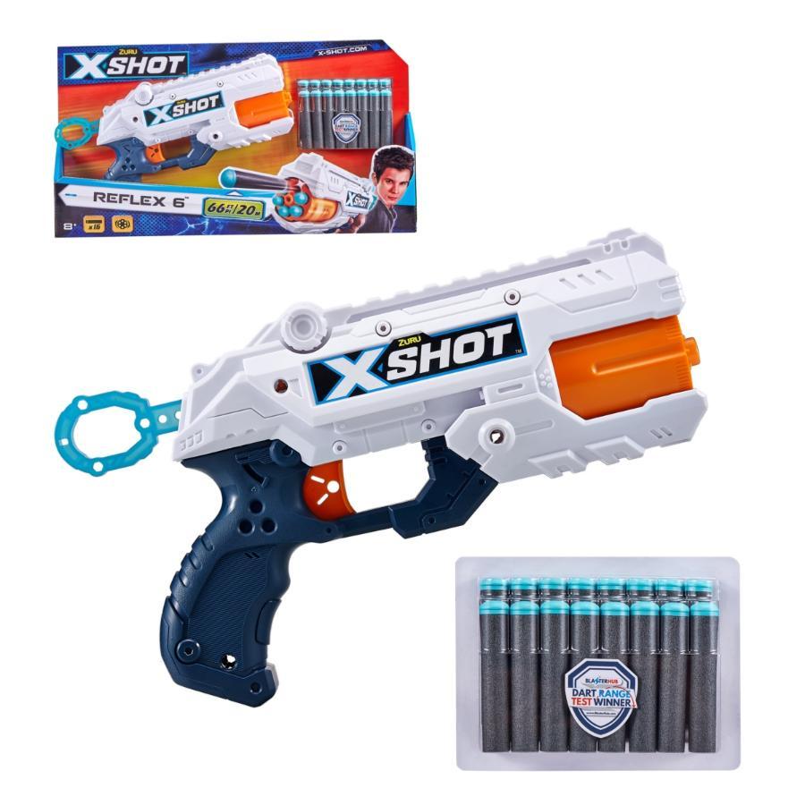 LANZADOR REFLEX 6 CON 16 DARDOS X-SHOT