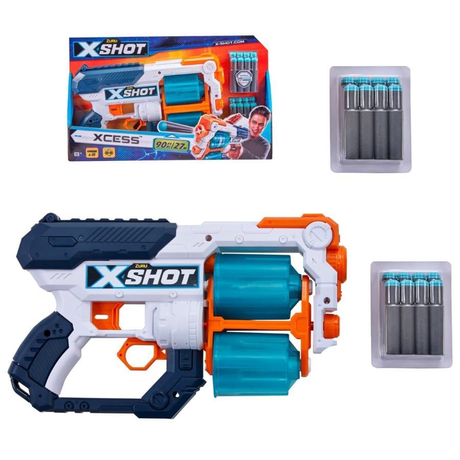 LANZADOR XCESS TK12 CON 16 DARDOS X-SHOT